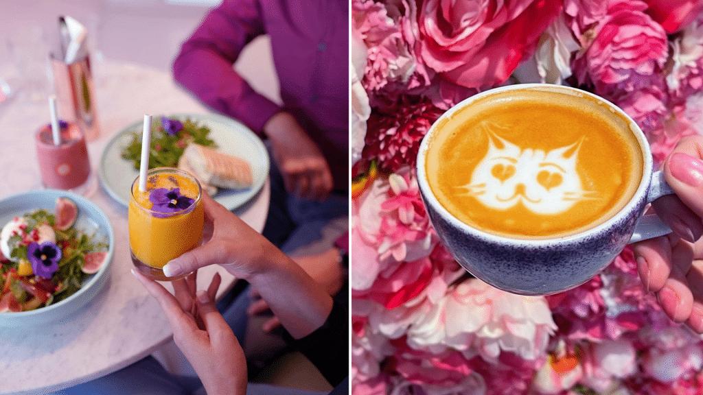 Café rose Instagrammable Elan Café Paris Galeries Lafayette