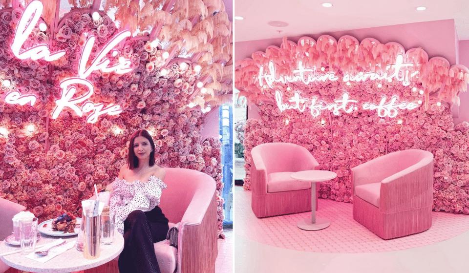 Le salon de thé rose londonien «Elan Café» ouvre aux Galeries Lafayettes à Paris !