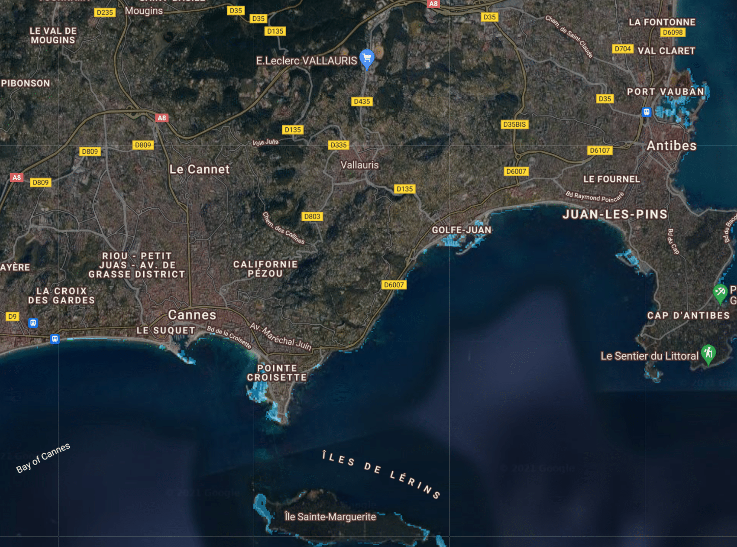 montée niveau de la mer france cannes 50cm