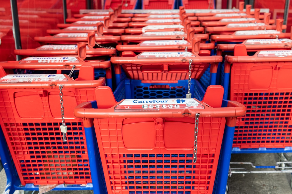 Supermarchés fin jetons caddies
