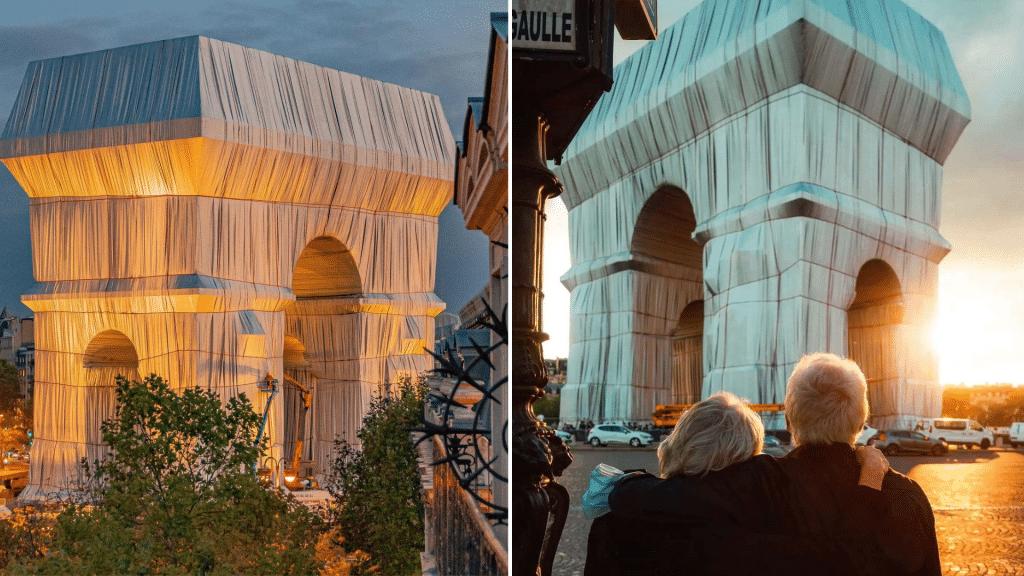 Plus belles photos Arc de triomphe empaqueté Christo
