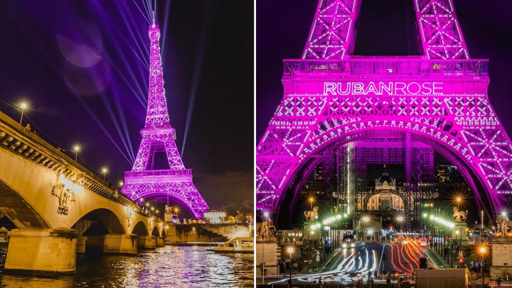 Tour Eiffel Rose Octobre Rose 2021 1er octobre