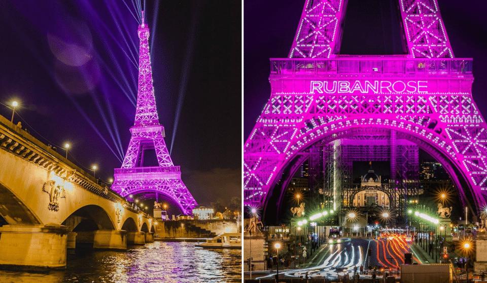 Octobre Rose 2021 : la Tour Eiffel parée de rose ce vendredi 1er octobre !
