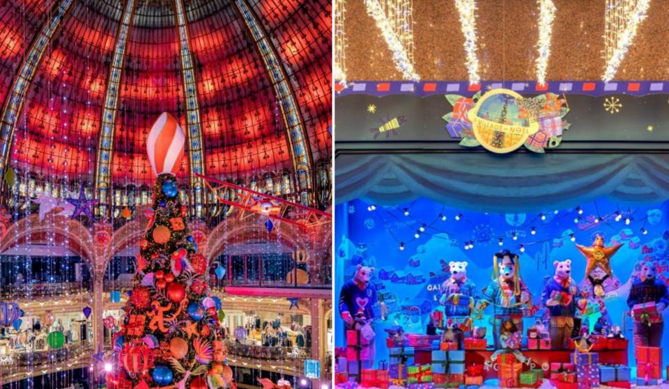 Les vitrines de Noël et le nouveau sapin des Galeries Lafayette dévoilés en novembre à Paris !