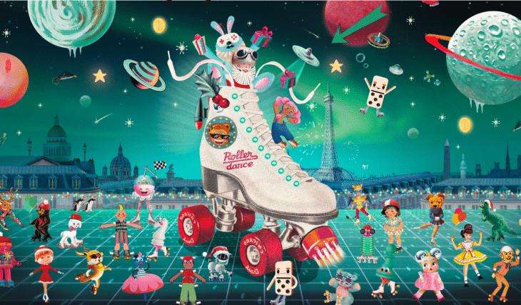 Inédit : les Galeries Lafayette Paris Haussmann installent une piste de Roller Dance XXL gratuite !