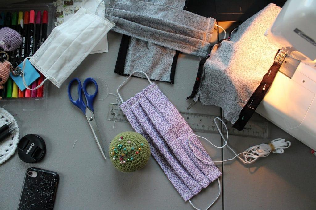 kit para fazer uma máscara de proteção contra o coronavírus