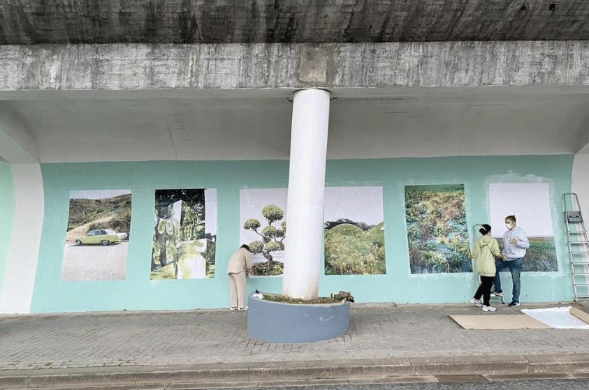 Já está concluído um novo mural de arte urbana no Porto com 70 metros