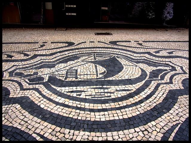 Calçada portuguesa no Porto