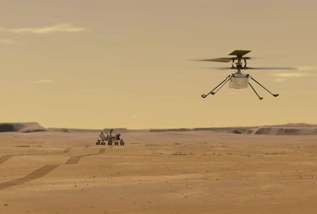 L'hélicoptère qui était attaché au rover Perseverance se promène maintenant Mars