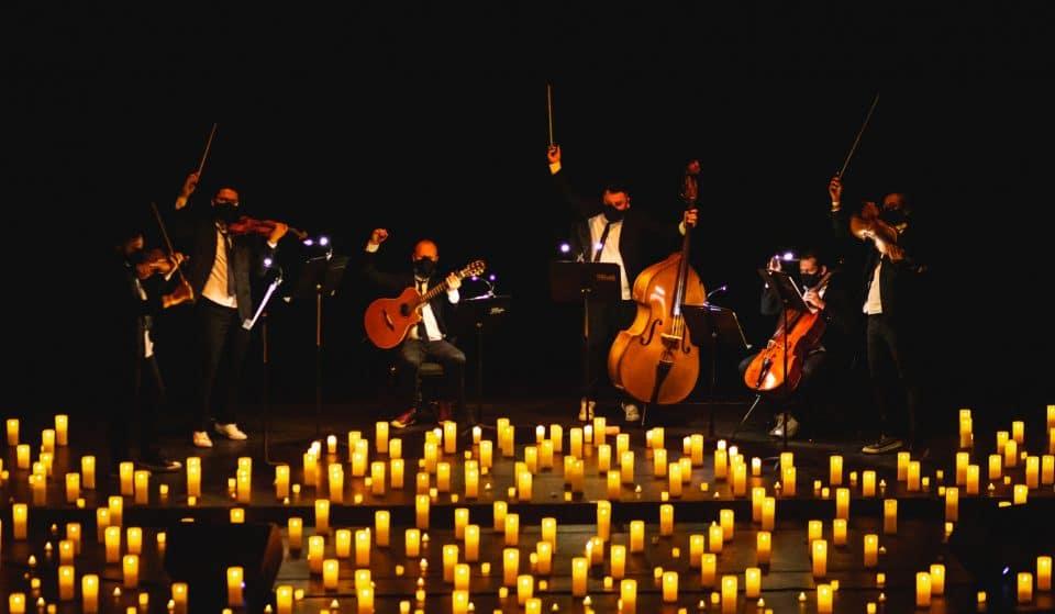 Os grandes clássicos do rock 'n' roll à luz de velas