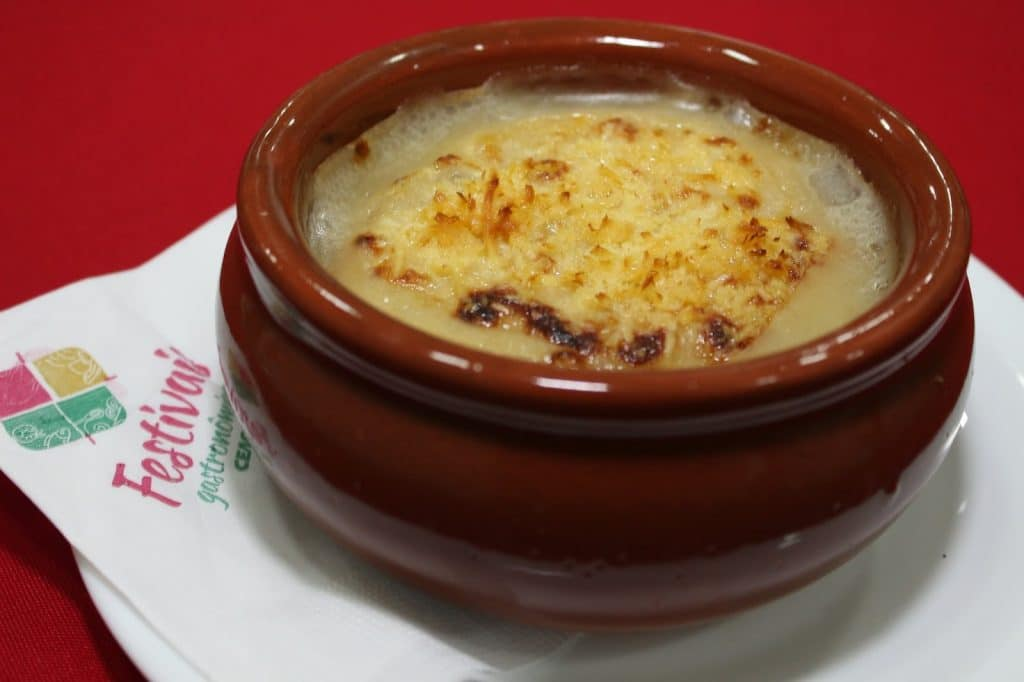 Sopa de Cebola Gratinada festival das sopas ceagesp