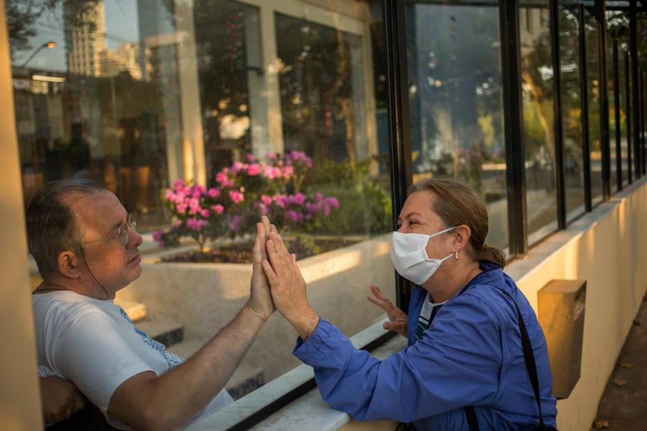isolamento Hospital Premier barreira de vidro