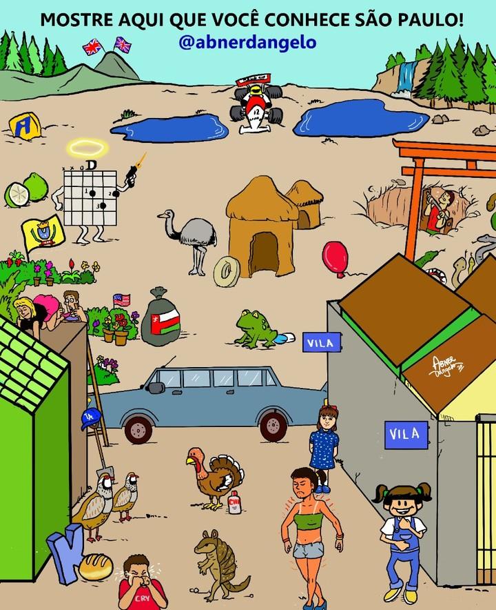 bairros são paulo desafio ilustração