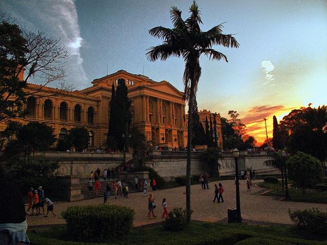 museu do ipiranga por do sol sp
