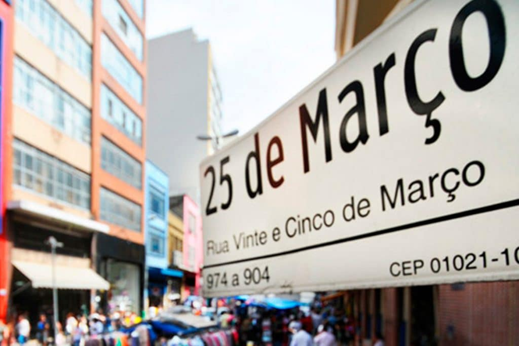 nome rua 25 de março