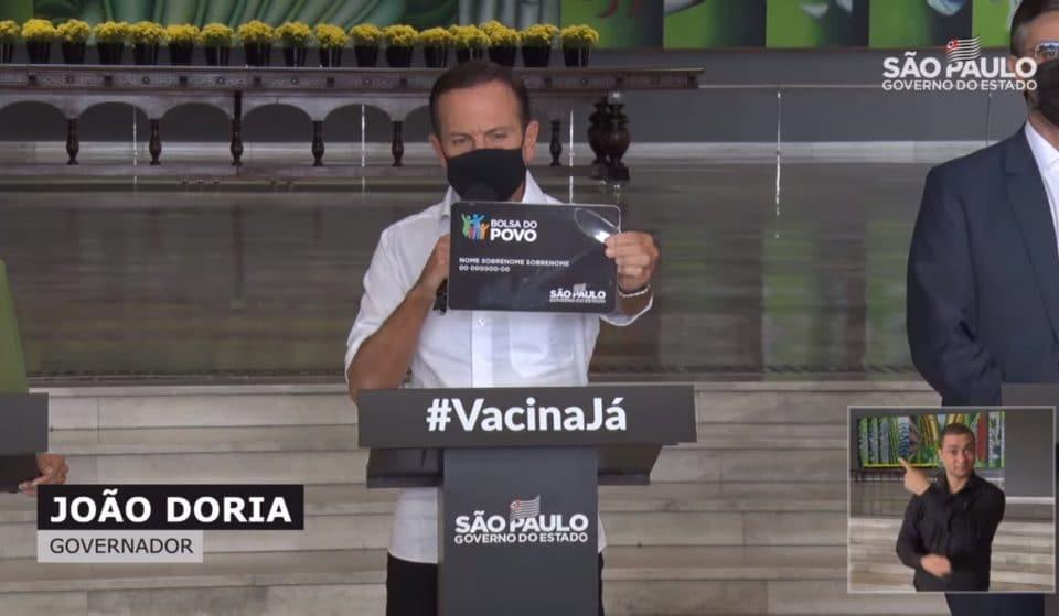 São Paulo cria 'Bolsa do Povo' de até R$ 500 por pessoa
