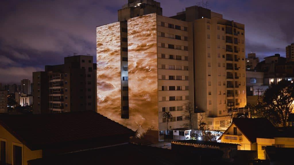 céu aberto exposição