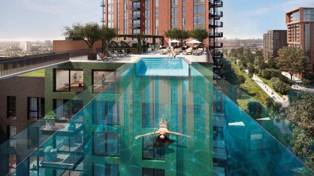 Londres-piscina-flutuante