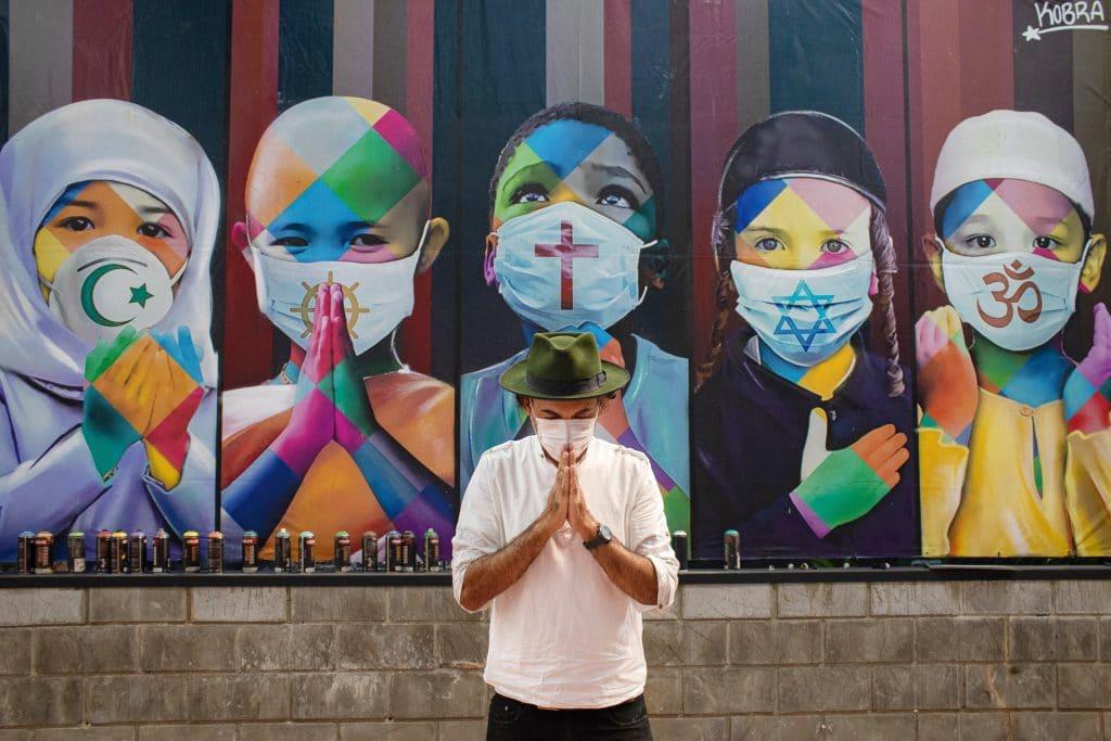 Kobra mural covid-19