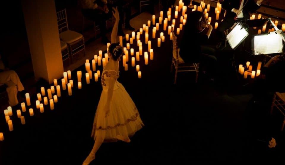 O Lago dos Cisnes de Tchaikovsky em um concerto Candlelight com ballet