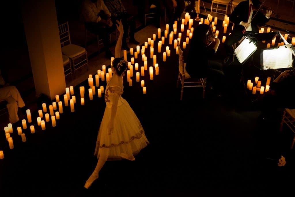 candlelight lago dos cisnes