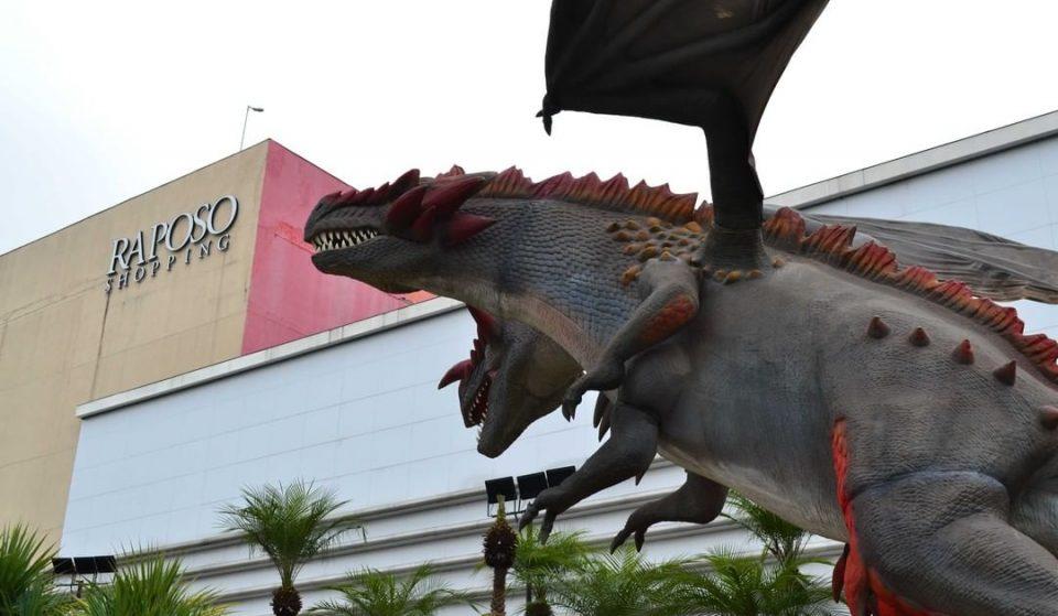 Raposo Shopping recebe dragões gigantes em exposição gratuita
