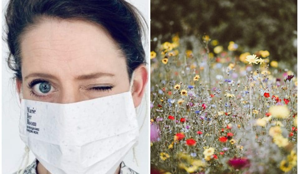 A Dutch Woman Has Created Biodegradable Masks Containing Flower Seeds