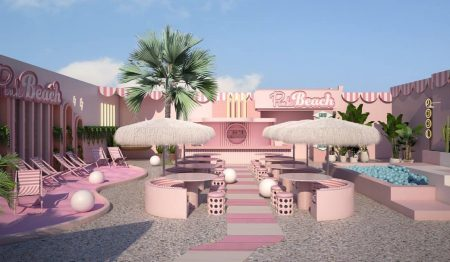 This Pink Beach Bar In Amsterdam Just Opened And It's Gorgeous