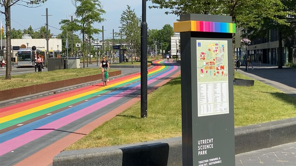 Utrecht Has Built The World's Longest Rainbow Path And We're Seriously Envious