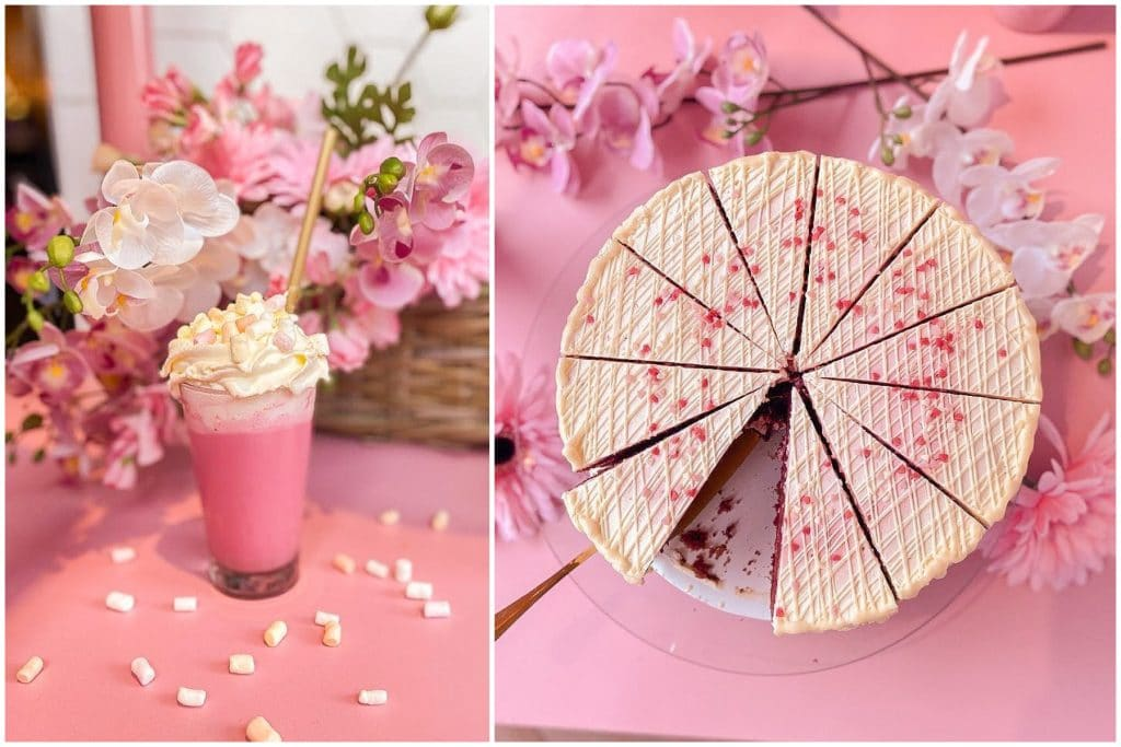 The Pink Paradise Serving Cheesecake Lattes And Dreamy Bakes • Lucy's Cheesecakes