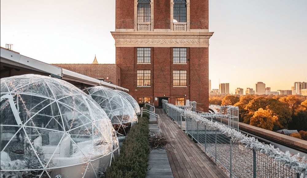 'Winter Dreamland' Of Inflatable Igloos And Ice Skating Rink Opens At Ponce City Market