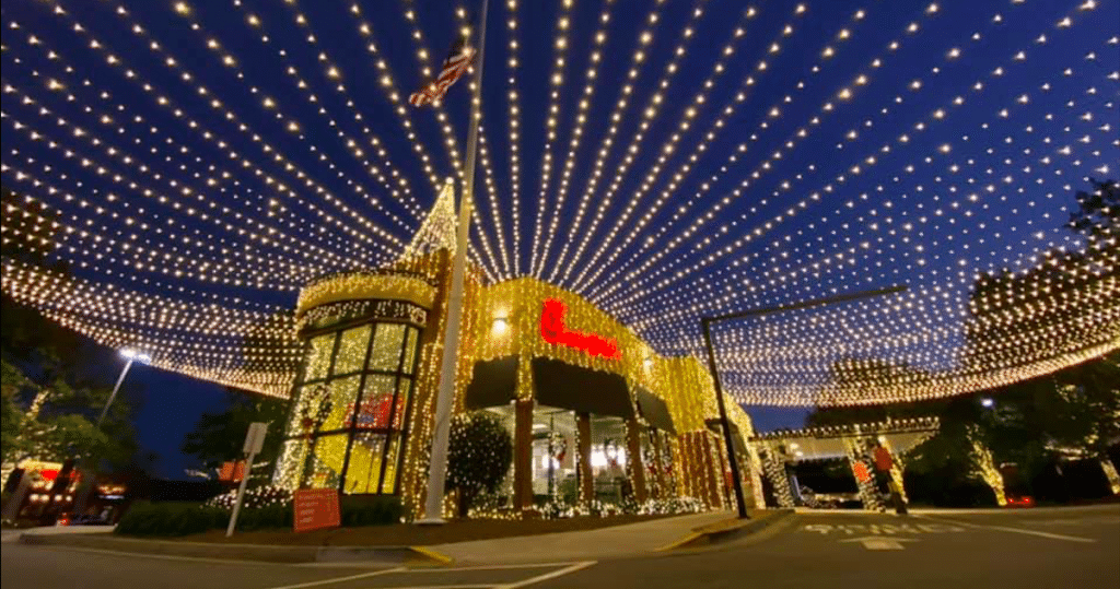 This Chick-Fil-A's Holiday Light Show In Athens Is Truly Epic