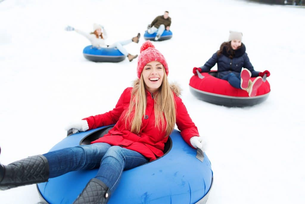 Snow Tube, Ice Skate, And Celebrate, At This Snow Island Just Outside Of Atlanta