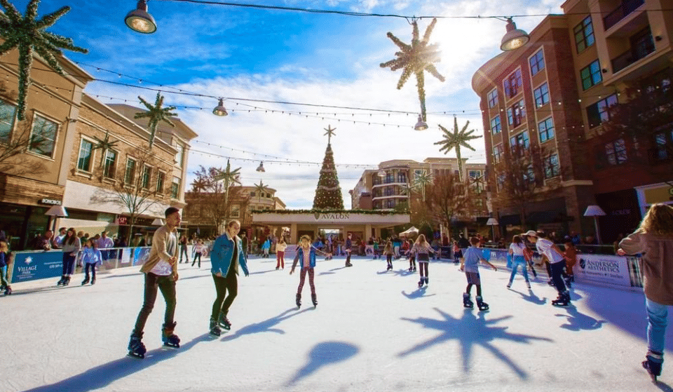 A Rockefeller-Inspired Ice Skating Rink Is Now Open In Avalon