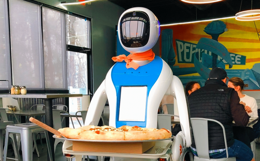 This Sci-Fi Pizzeria Is Run By Robot Waiters • Big Bang Pizza