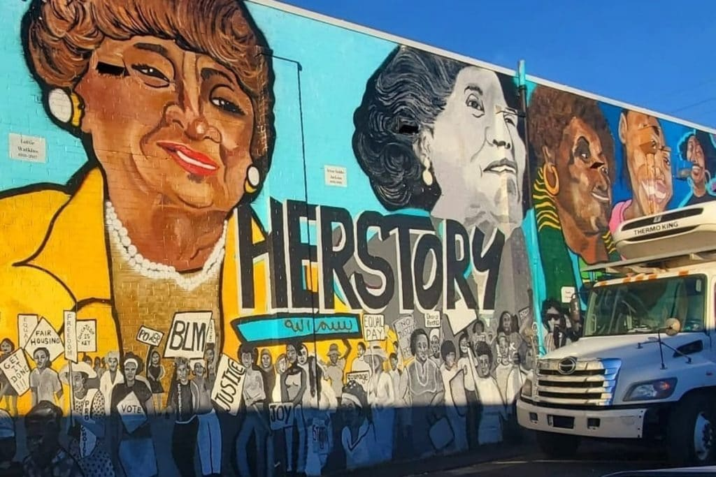 Mural Honors Unsung Female Civil Rights Activists In Atlanta's West End Community