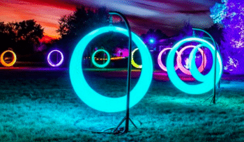 Swing In A Moon-Ring Among The 'Luminations' At The Wildflower Center This Month