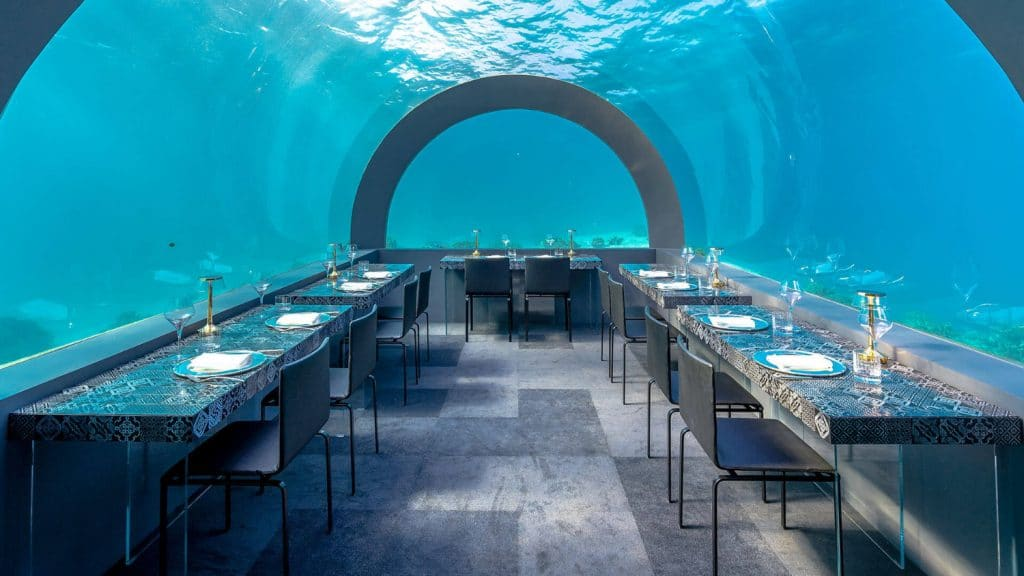Dinner unter Wasser? Das ist jetzt möglich.