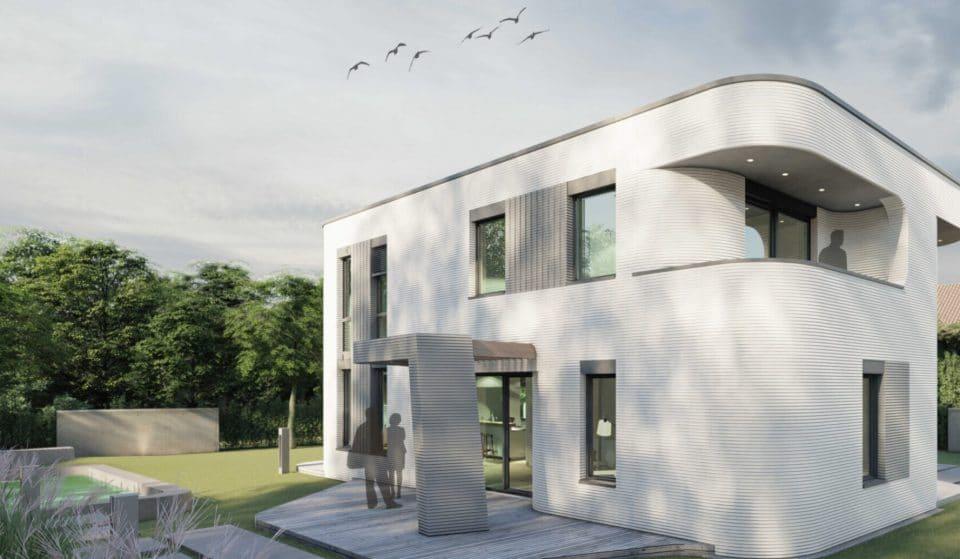 Das erste 3D-gedruckte Wohnhaus in Deutschland eröffnet