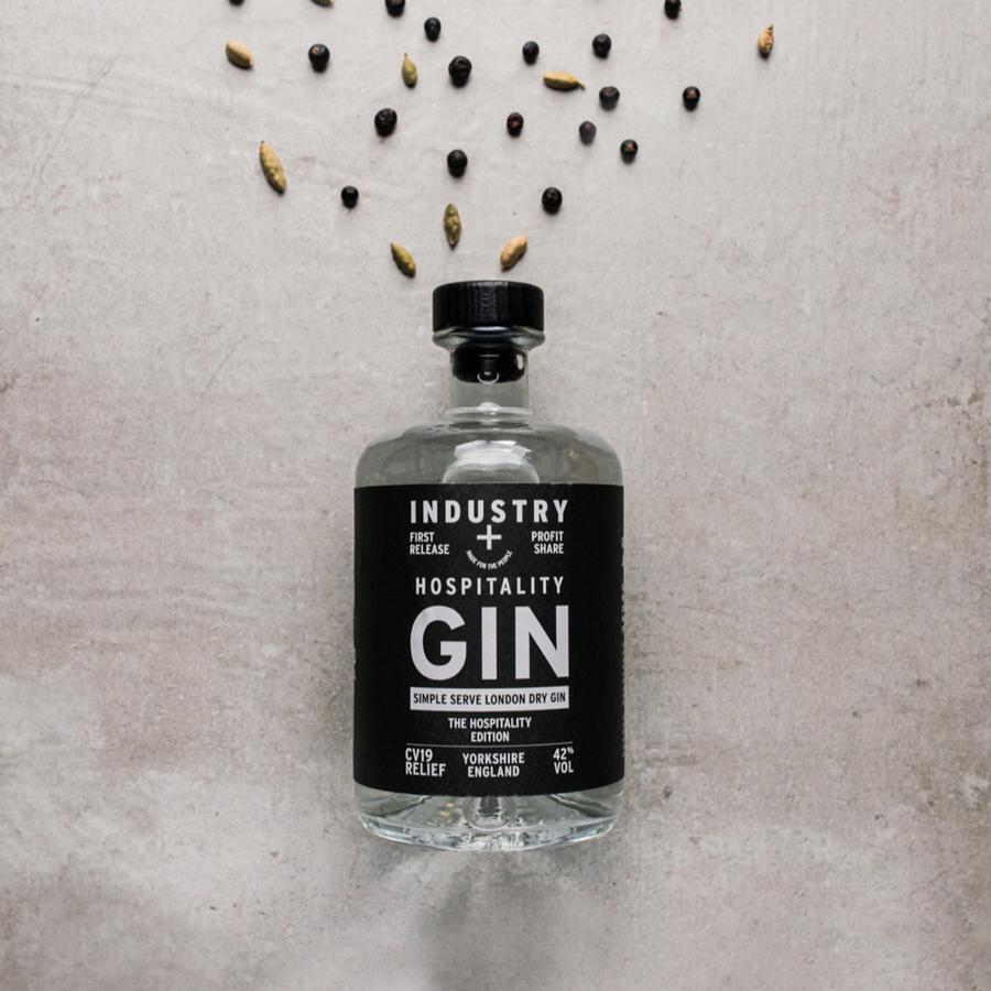 hospitality gin bottle