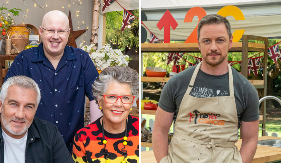 This Year's Celebrity Bake Off Line-Up Has Been Announced Featuring James McAvoy