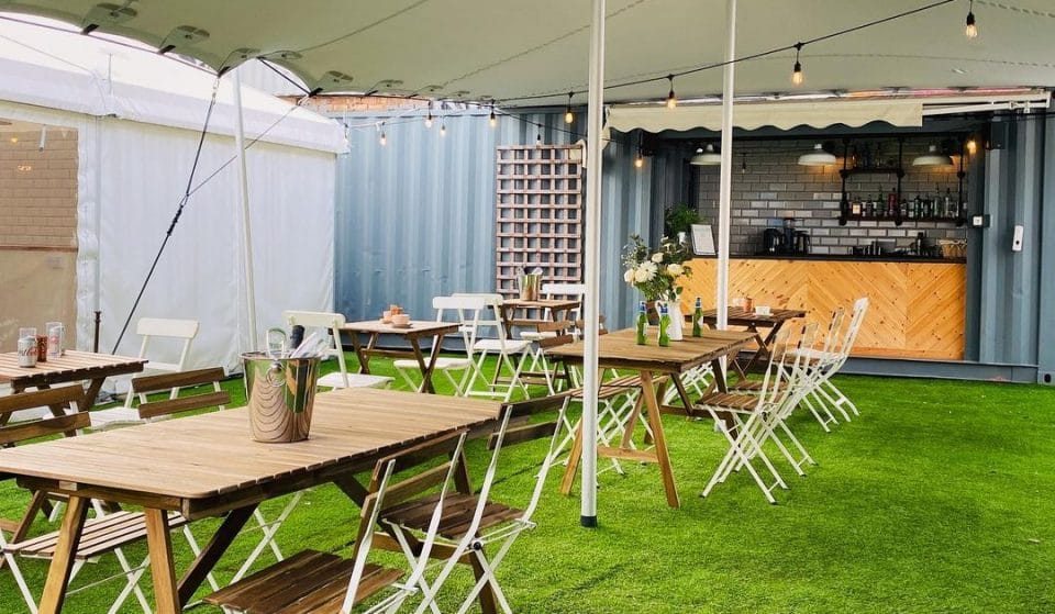 You Can Now Sip On Prosecco And Bakewelltinis At This Baking Tent's Garden Bar