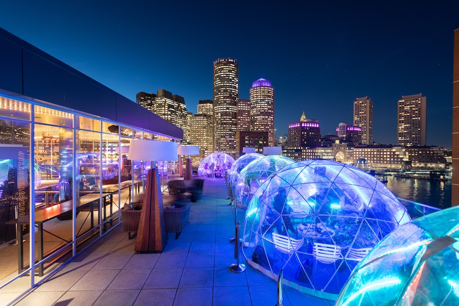 Igloos Greenhouses Fire Pits 8 Cozy Winter Spots For Outdoor Dining In Boston Secret Media Boston