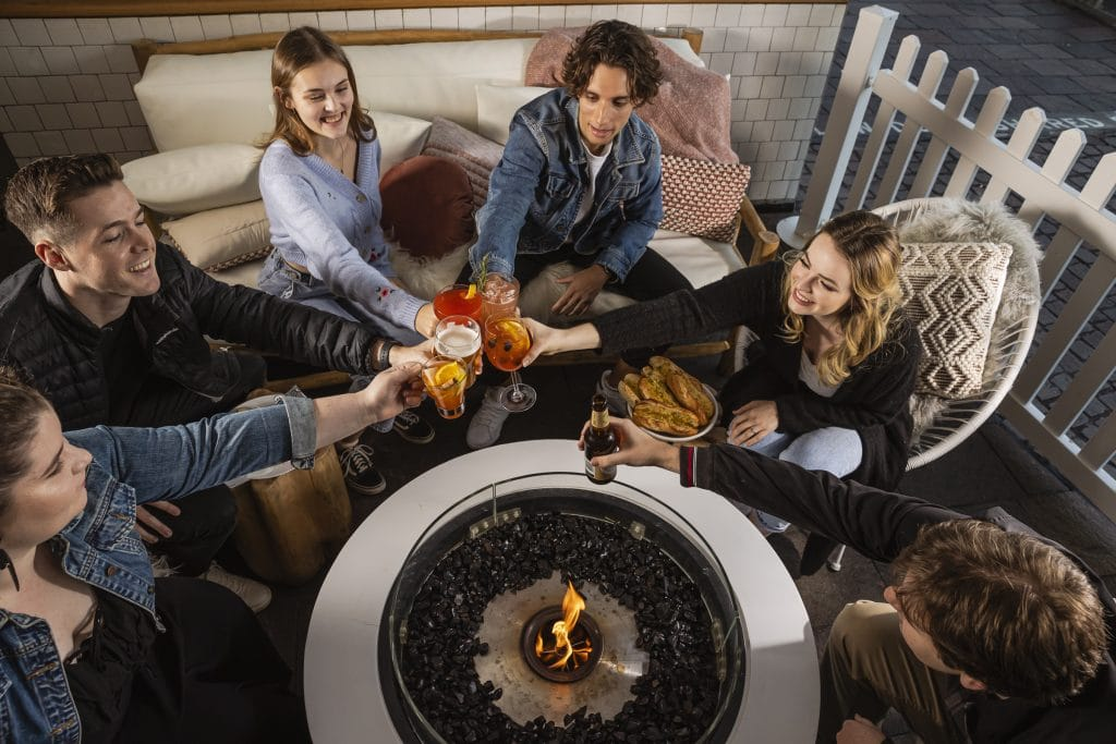 You Can Cosy Up In This Winter Lodge With Firepits, Fondues And Sweet Treats · Riverbar & Kitchen