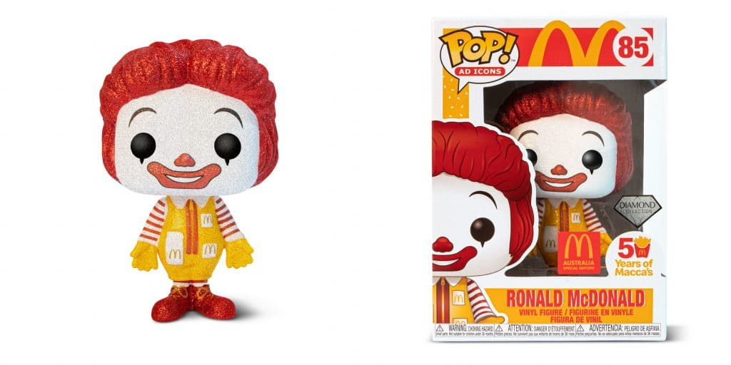 Maccas Is Launching A Glitter-Encrusted Ronald McDonald Funko Pop Figurine This Month