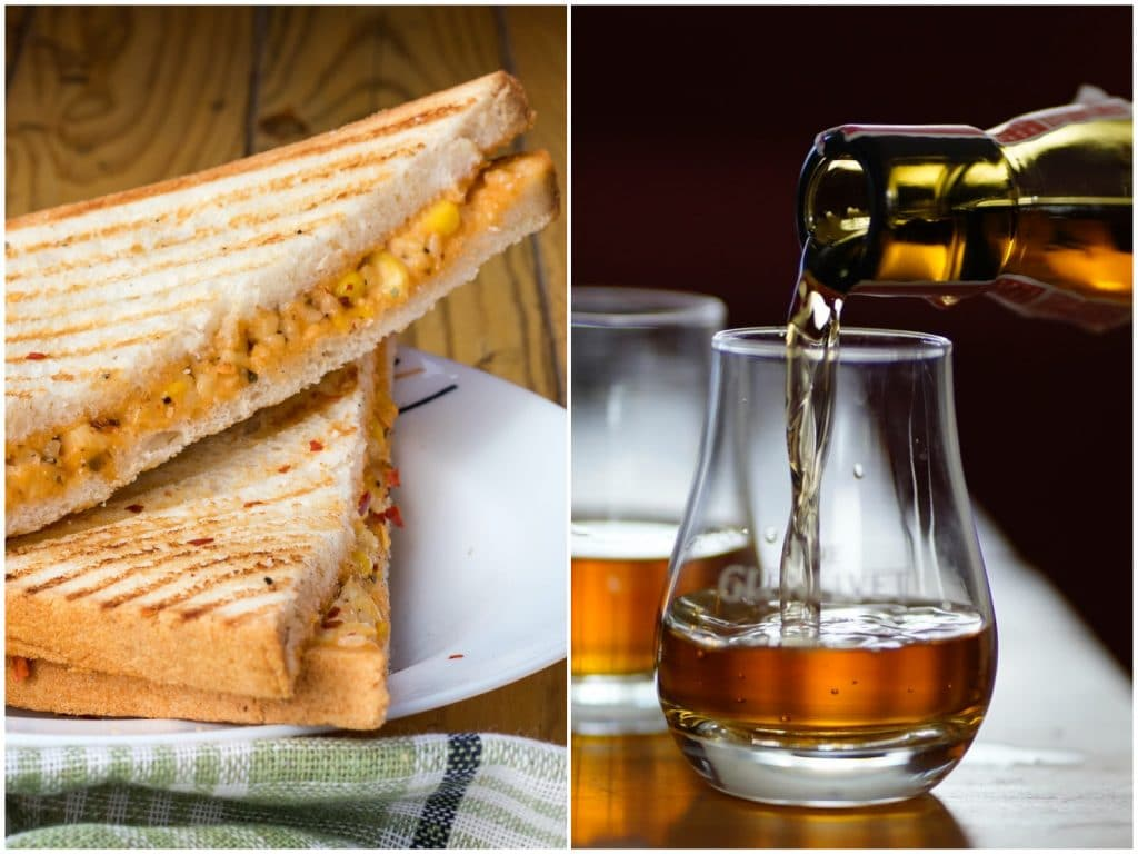 On Wednesdays We're Craving Whiskey And Cheese Toasties From Grape Therapy