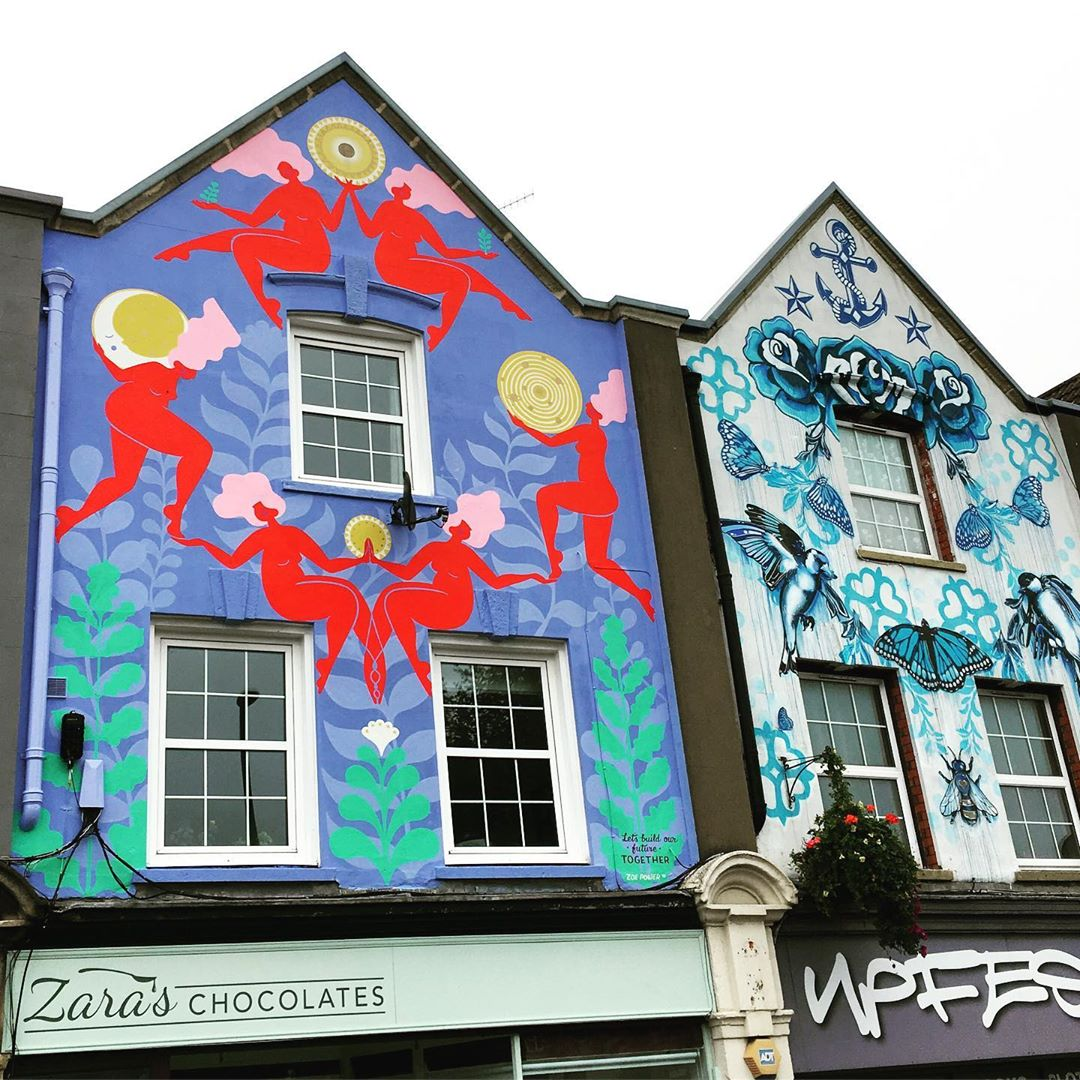 upfest gallery and zoe power mural