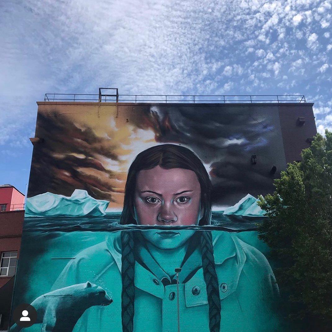 greta thunberg bristol mural