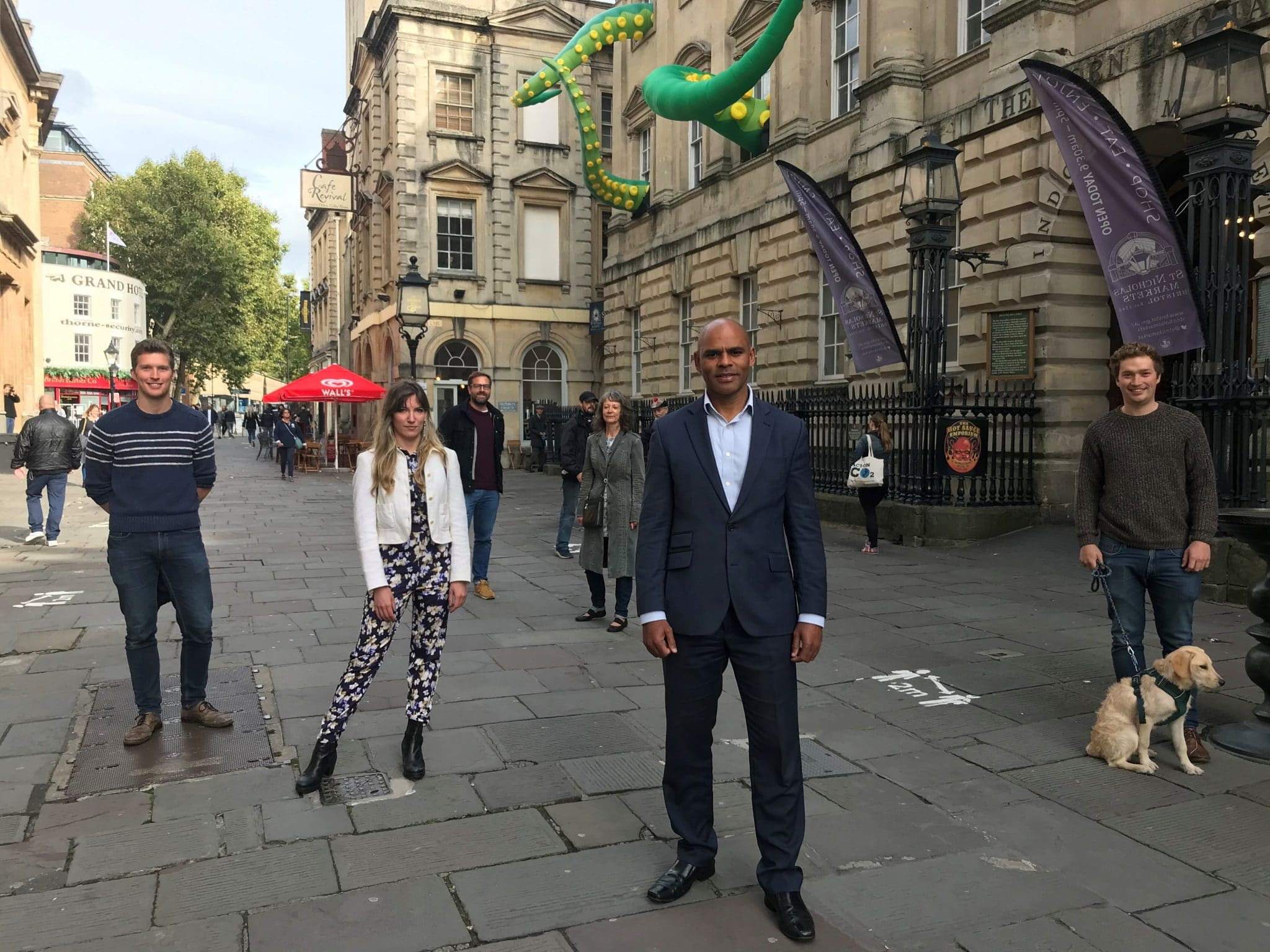 Mayor Marvin Rees unveils new Old City art installations & improvements