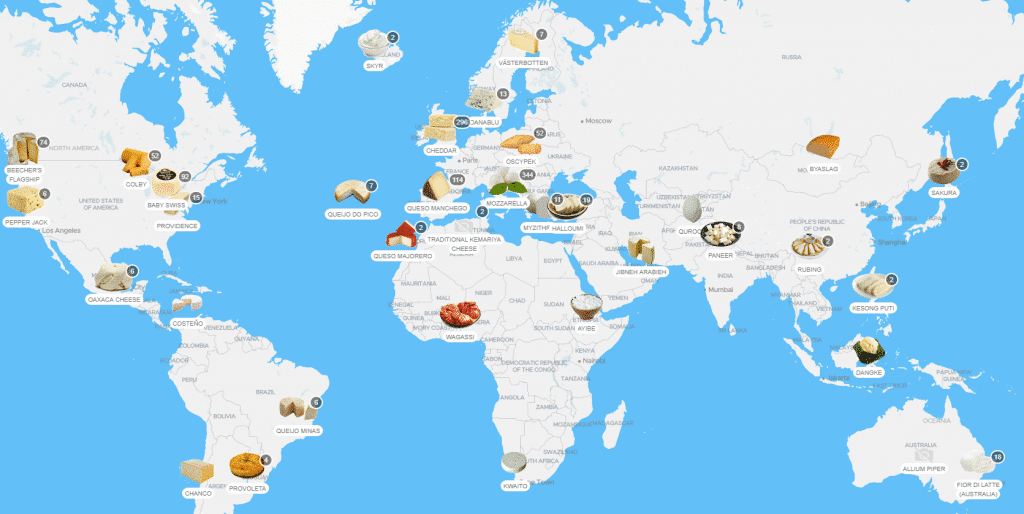 interactive cheese map taste atlas